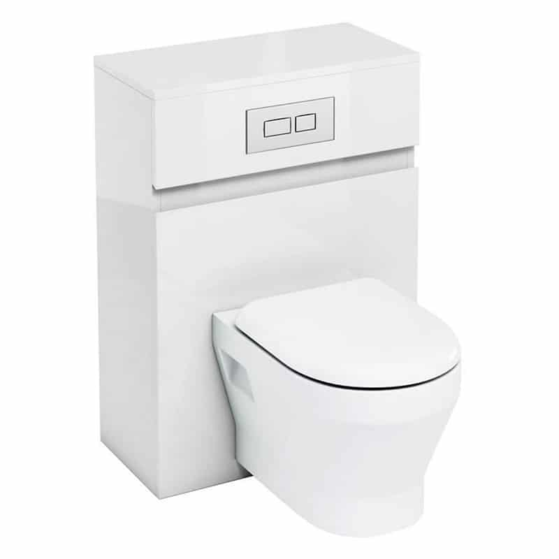 AW32WW33A Britton Toilet Unit with Flush Plate for Wall Hung Toilets White