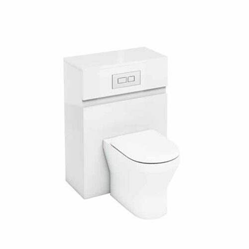 AW32W Britton Toilet Unit with Flush Plate for Back to Wall Toilets White