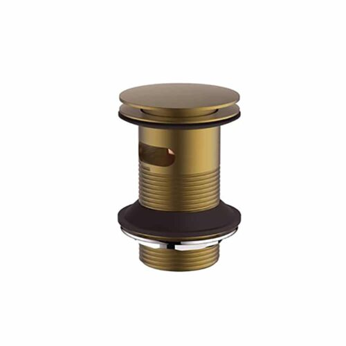 HOX010BB Britton Wastes Sprung Plug Basin Waste - Slotted  Brushed Brass Brushed Brass