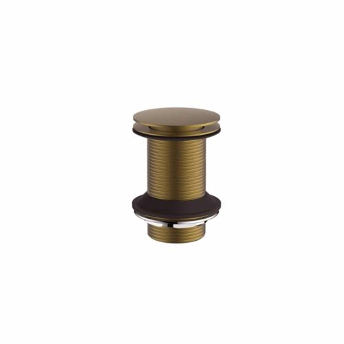HOX011BB Britton Wastes Sprung Plug Basin Waste - Un-Slotted  Brushed Brass Brushed Brass