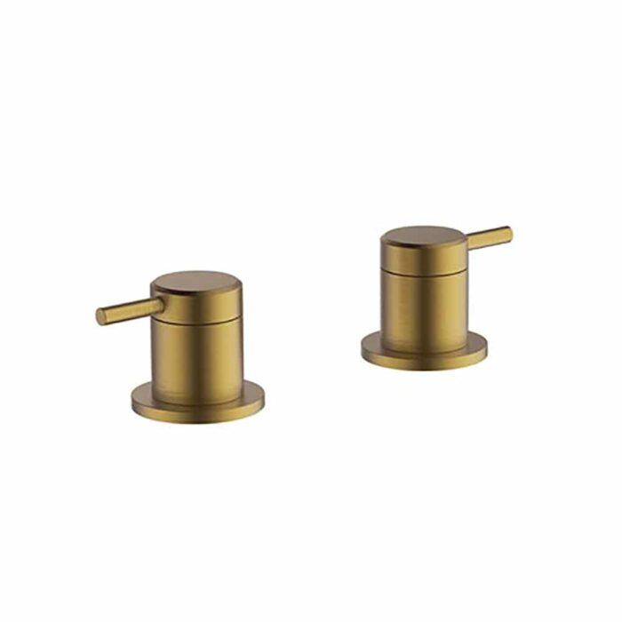 HOX025BB Britton Hoxton Panel Valves Brushed Brass Brushed Brass