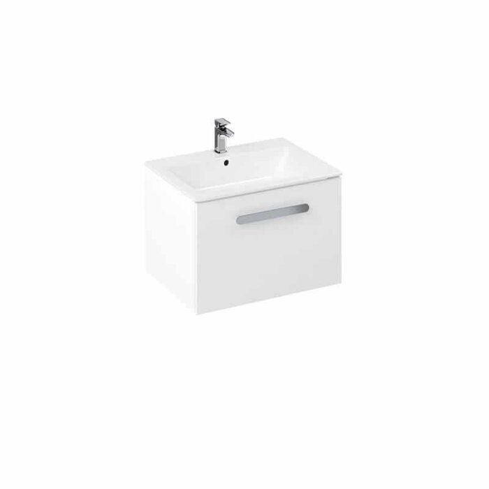 MY60CTUWHW+MY60CT1THW Britton My Home 600mm Wall Hung Vanity Unit & Basin White