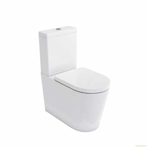 SPH001+SPH002 Britton Sphere Comfort Height Toilet including Soft Close Seat (Closed Back) White