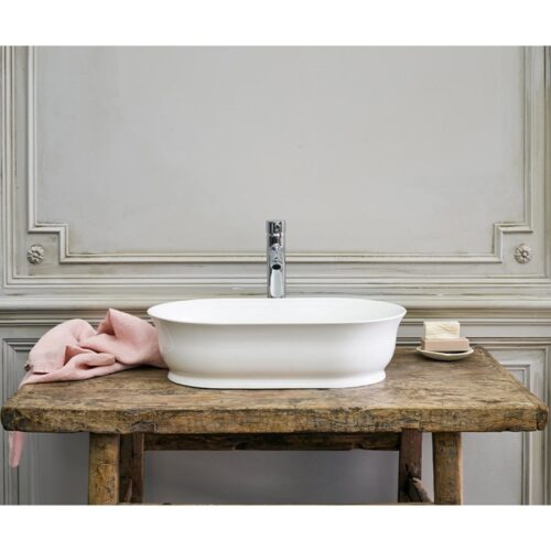 B11ECS Clearwater Florenza ClearStone Sit-On Basin White