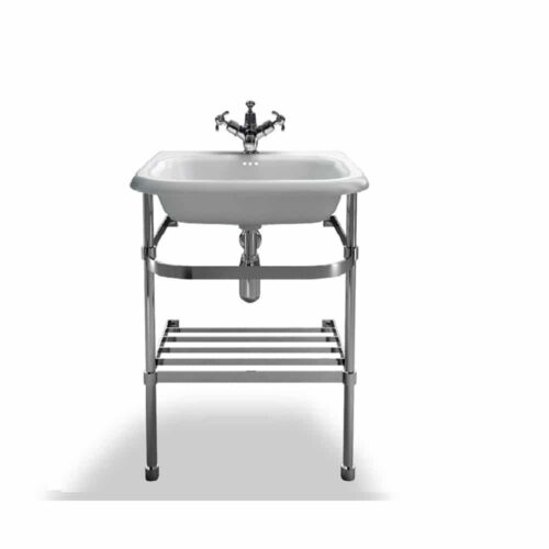 B7ES+B7E Clearwater Traditional Roll Top Basin & Washstand White