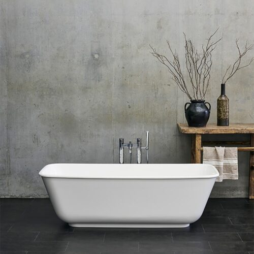 N22CS+CW13 Clearwater Novula Clear Stone Freestanding Bath White