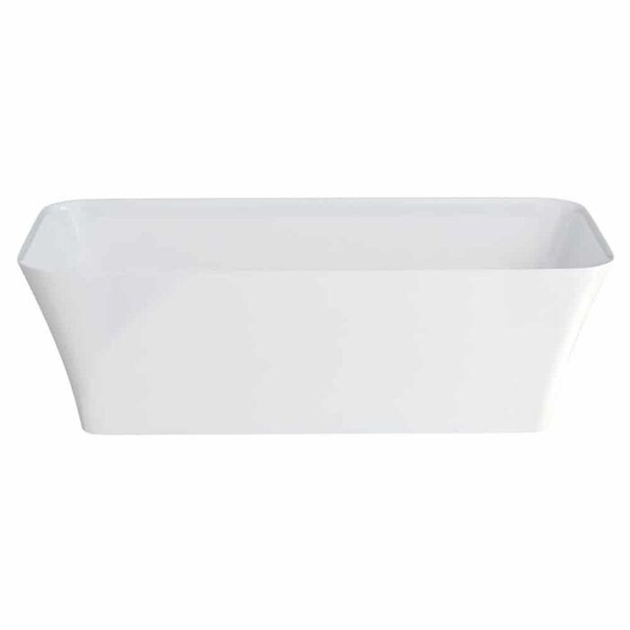 N4CCS+CW13 Clearwater Palermo Petite Clear Stone Freestanding Bath White_2