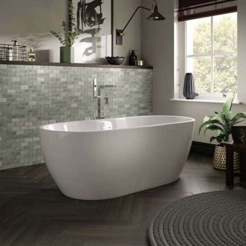 SEN18 The White Space Senna Freestanding Bath White
