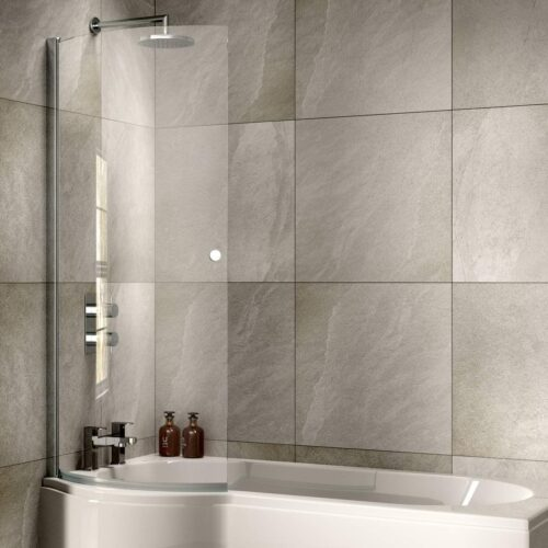 SOB51 Sommer P Curved Bath Screen Chrome