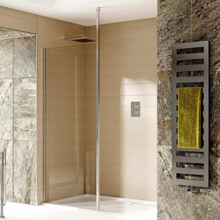 SOW14+SOW01+SOW40 Sommer Wet room Glass Panel - Chrome Chrome_2