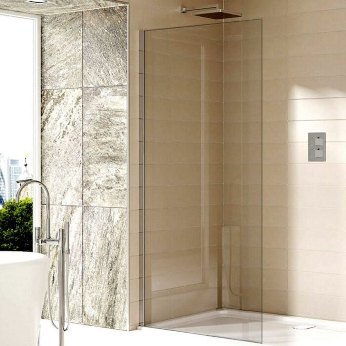 SOW14+SOW01+SOW40 Sommer Wet room Glass Panel - Chrome Chrome