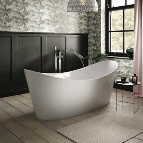 SUL18 The White Space Sulis Freestanding Bath White