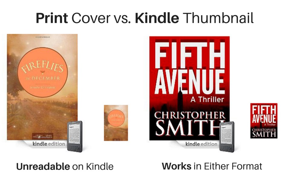 Print Cover vs. Kindle Thumbnail