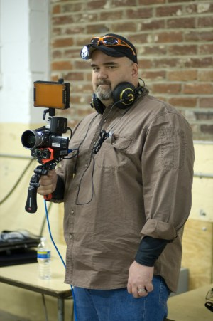 Doug Daulton, Pixel Corps Camera Operator. Photo by Tom Anderson