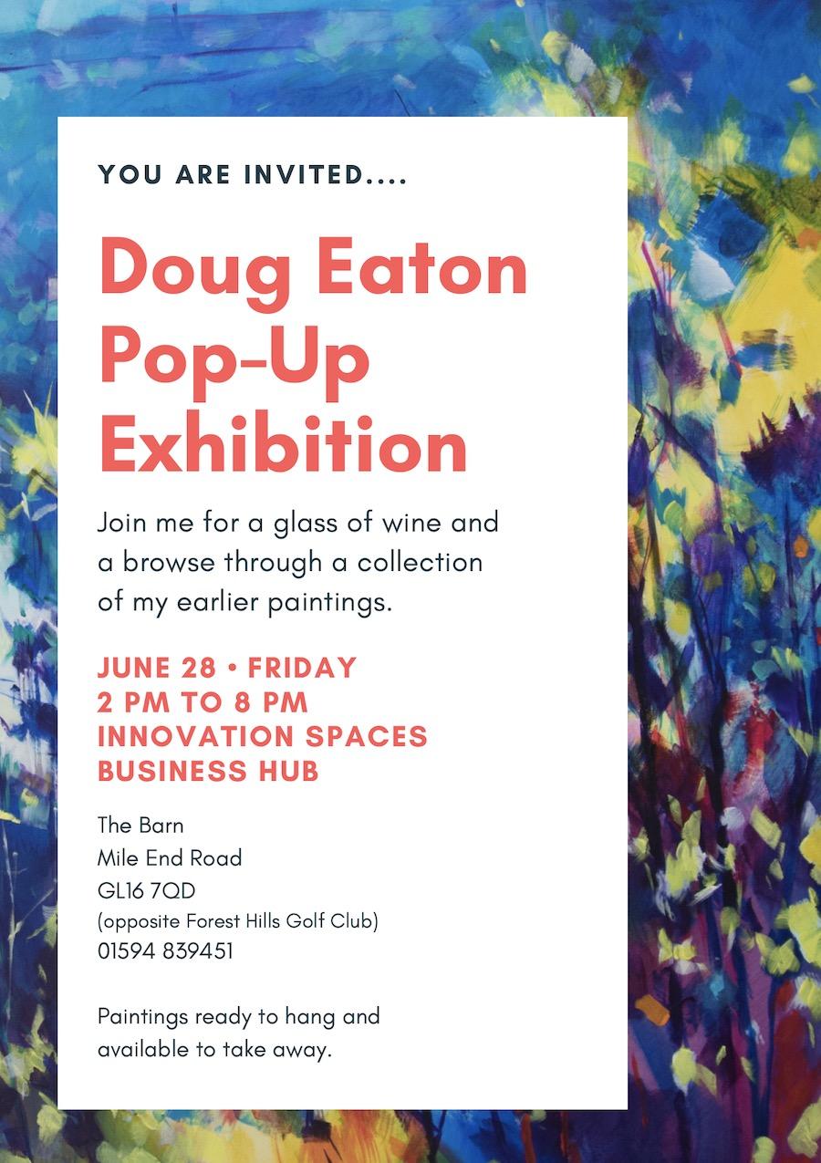 Pop-Up Exhibition of earlier work Doug Eaton