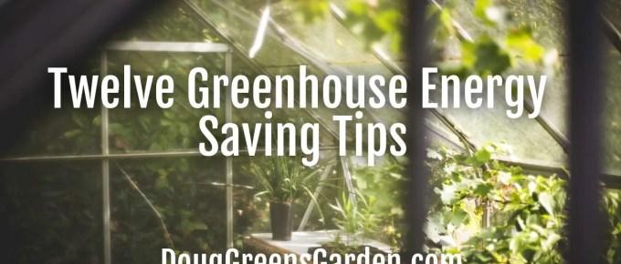 greenhouse energy saving