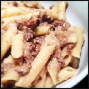 beef and mushroom unstuffed pasta