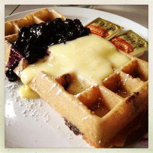 the waffle lemon blueberry waffles