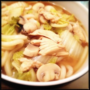 Asian inspired chicken noodle soup