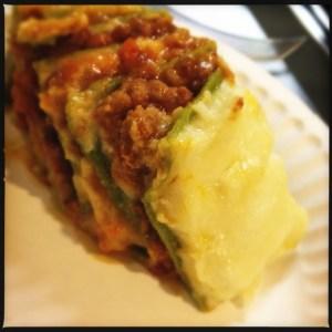 Beef and spinach lasanga