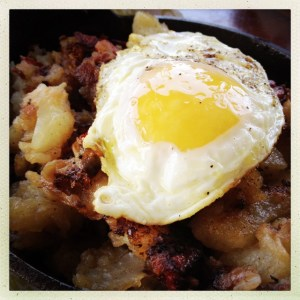 Fried Egg On Corned Beef Hash