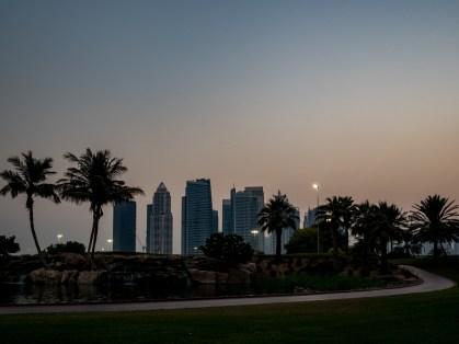 Dubai at sunset, Emirates Golf Course. Olympus 17mm f1.8