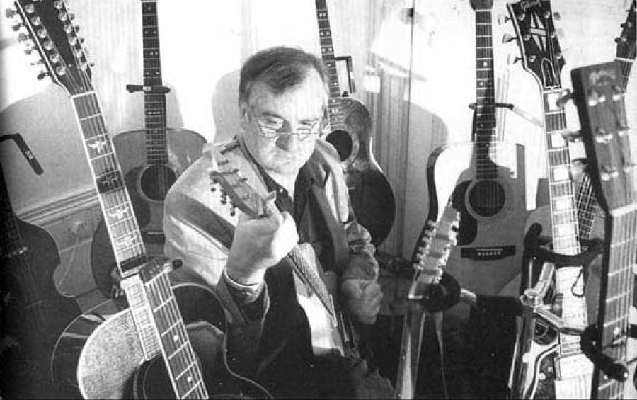 Douglas Adams and his guitares