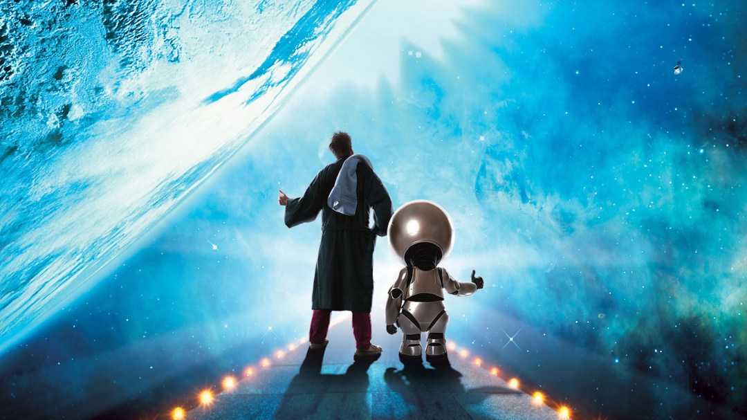 Arthur Dent and Marvin in The Hitchhiker's guide to the galaxy movie adaptation (2005)