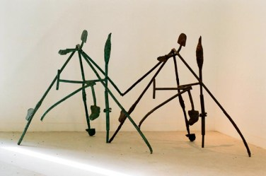 Sleepwalk, 1986–2006. Steel, iron, bronze. 53 x 103 x 34 in.