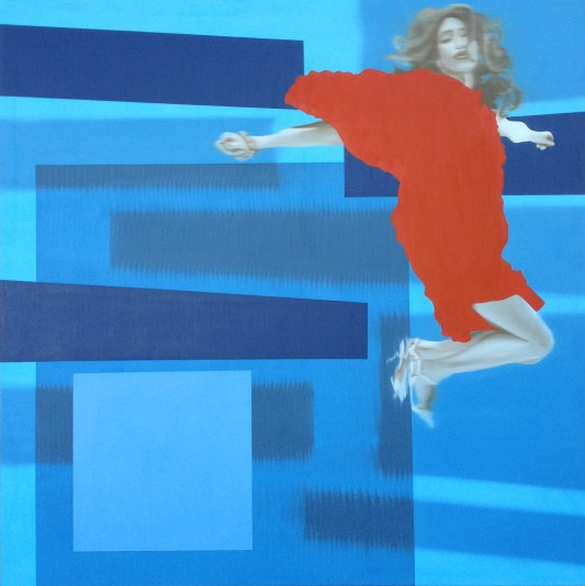 Airborne, Oil on canvas, 48 x 48