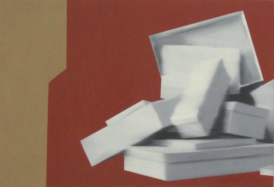 Pyramid, Oil on canvas, 24 x 35