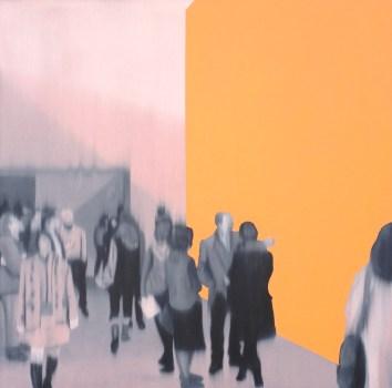 Orange Space, Oil on canvas, 30 x 30