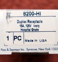 pass seymour 8200hi hospital grade duplex receptacle [ 1524 x 1096 Pixel ]