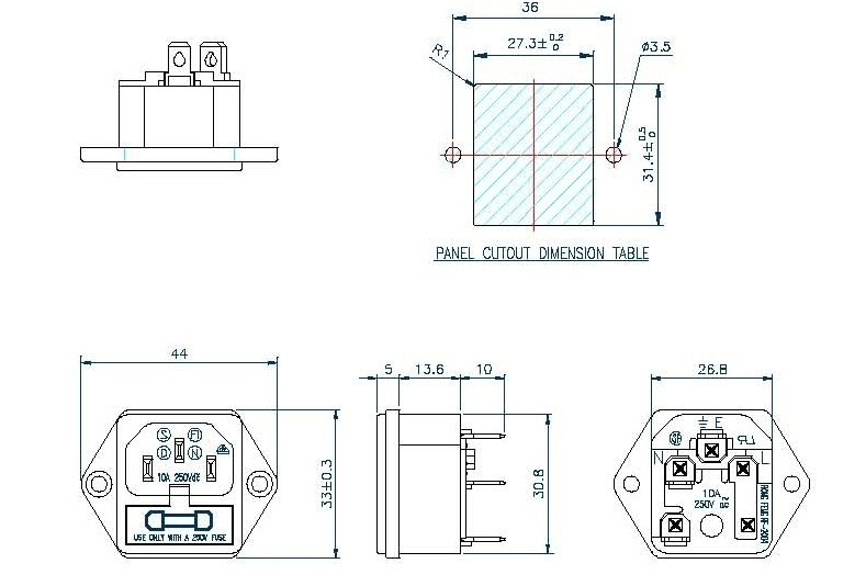 Furutech FI-03 IEC AC Inlet