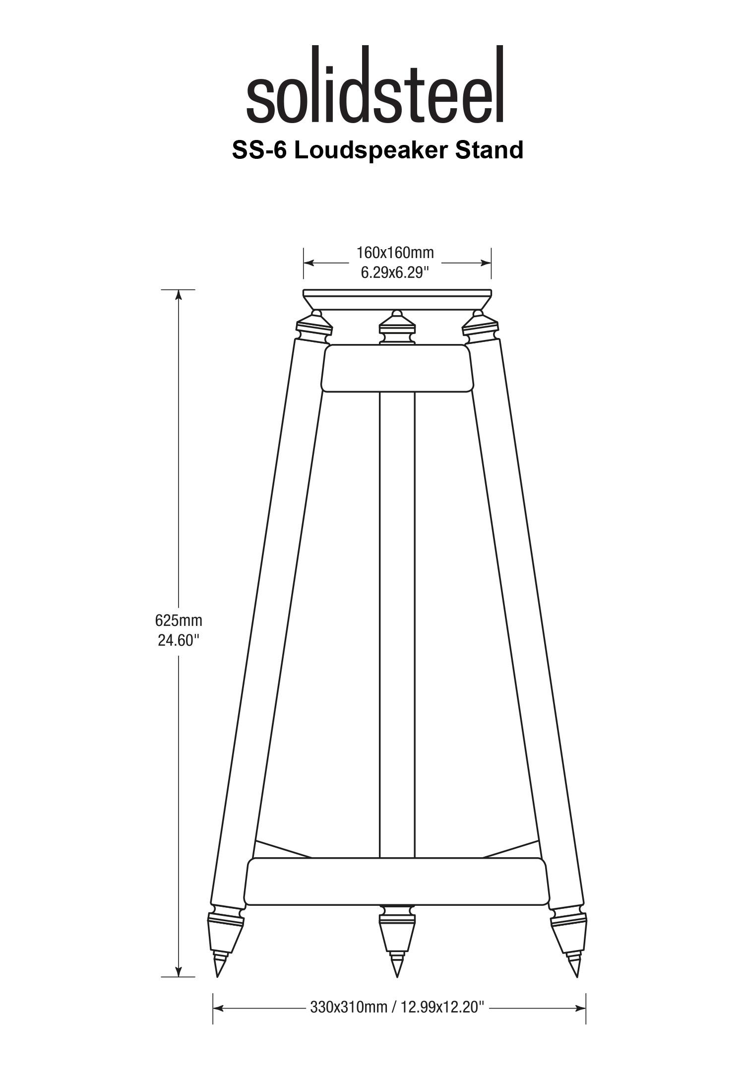 SolidSteel SS Series Vintage HiFi Speaker Stands