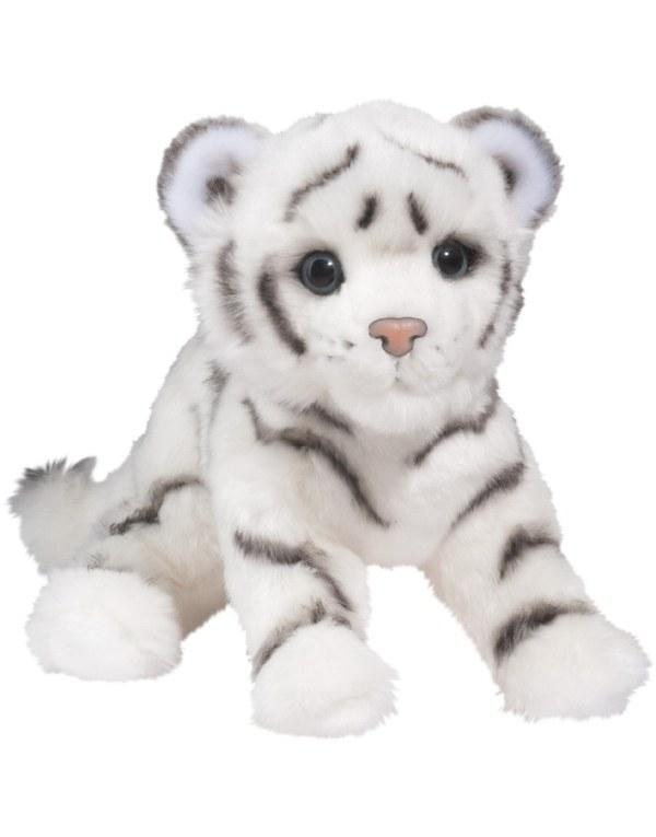 Silky White Tiger Cub - Douglas Toys