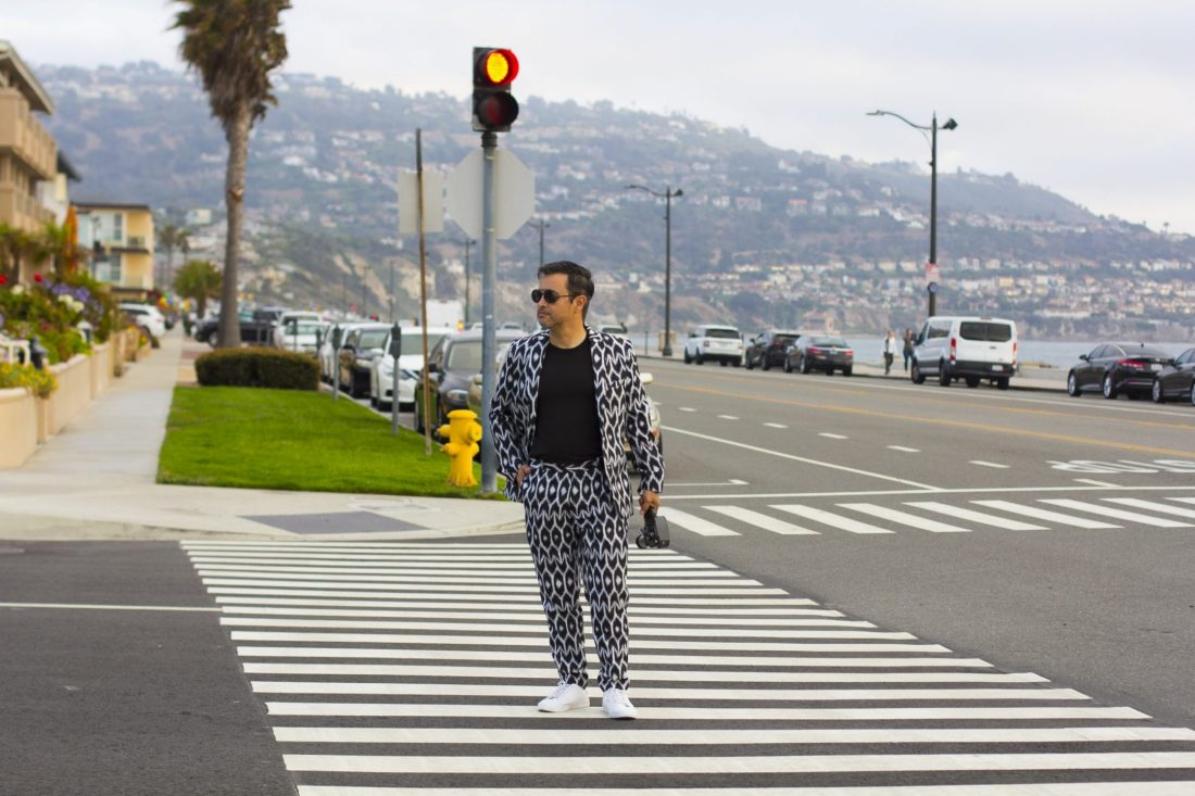 Crossing the street with style.
