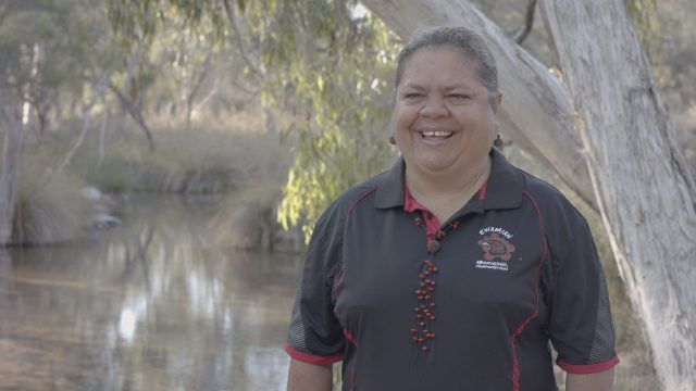 Ewamian woman and Vice Chair of the Ewamian Aboriginal Corporation Jenny Lacey.  Image Credit / Talaroo Hot Springs