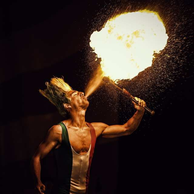 fire dancing at port douglas carnivale