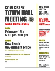 Town hall meeting flyer adolescents