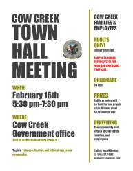 Cow Creek Town Hall Meeting Families & Employees