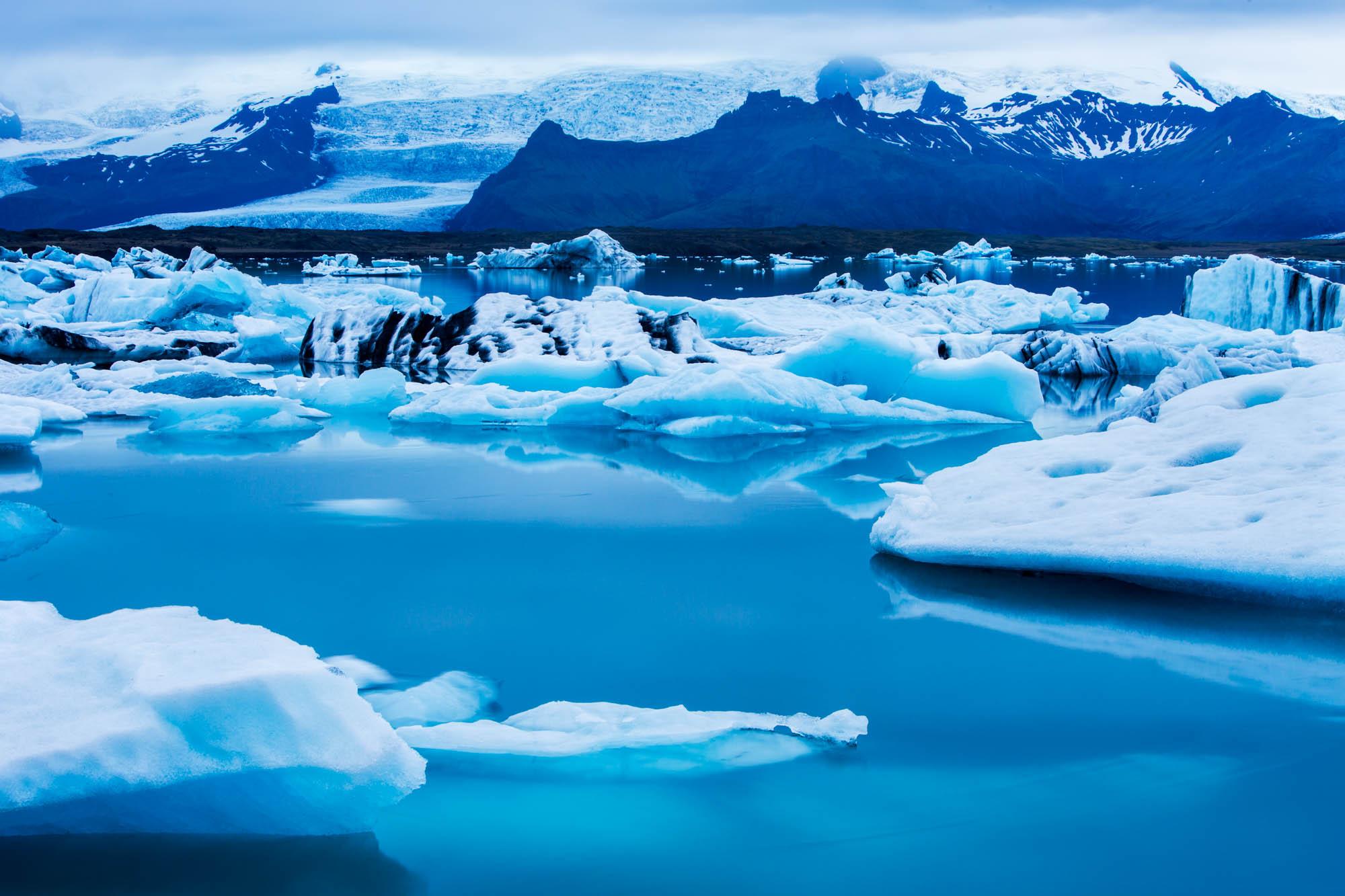 Iceland Glacier Lagoon Reflections