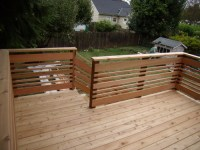 Horizontal deck railing