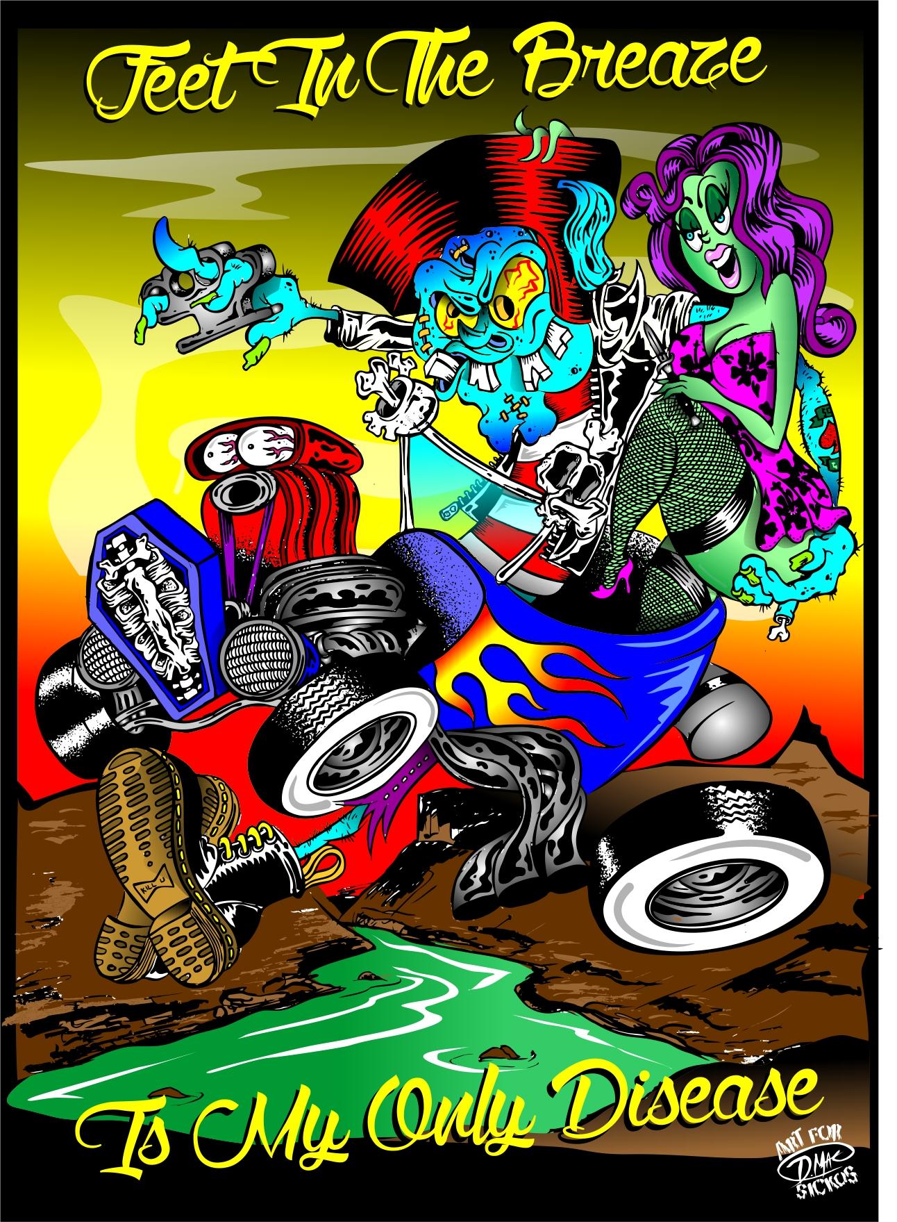 Mags  Bands  Doug Mac Art  Illustrations  Lowbrow Art  Illustrator  Tshirt art  Hot Rod