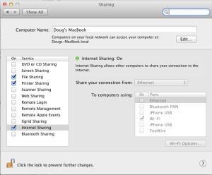 Sharing Preferences Pane in OS X Lion