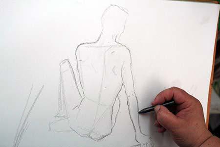 Taller de dibujo en Dougnac Málaga