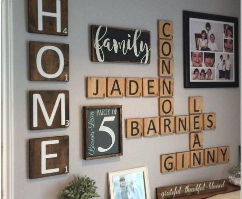 82 DIY Giant Wall Scrabble Ideas For the Home Decoration