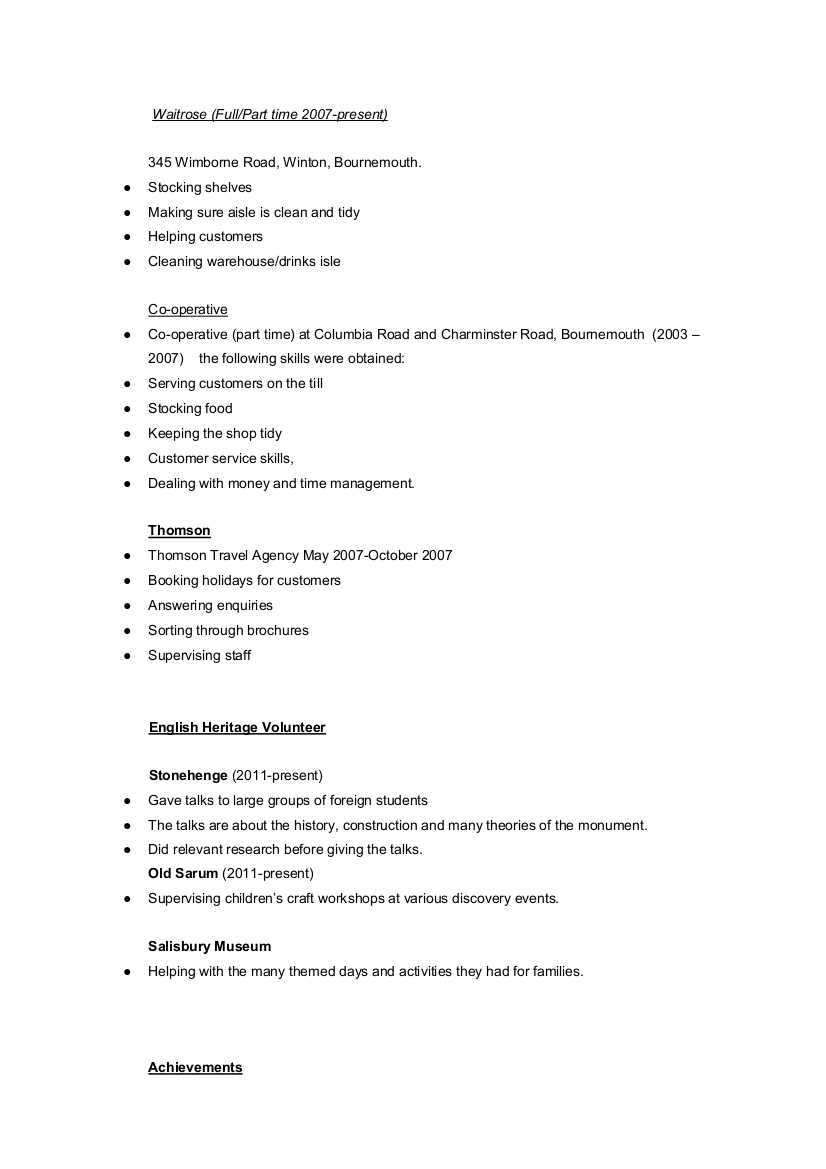 How To Fill Out Skills On A Resume Tips For An Archaeology Resume Cv If You Just Graduated Or Are