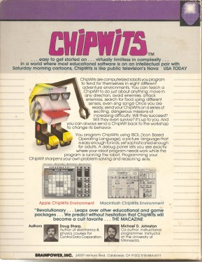 ChipWits cover Brainpower 2 back