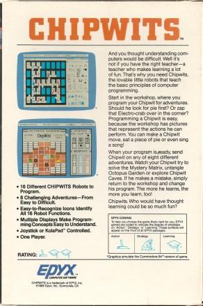 ChipWits Epyx back